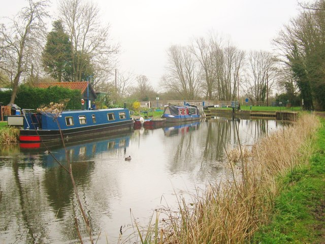 Hoe Mill Lock on the River Chelmer, Ulting, Essex