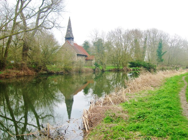 All Saints Church and the Chelmer and Blackwater Navigation Canal, Ulting, Esex