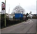 SX8860 : Warning sign - level crossing, Station Lane, Paignton by Jaggery