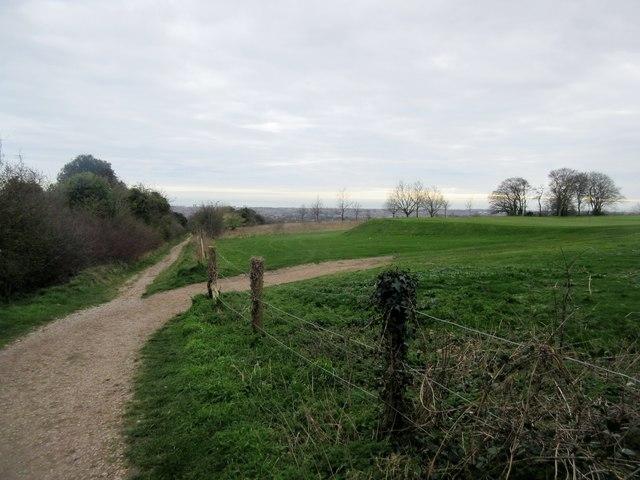 Bridleway through Worthing Golf Course