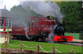 SK2406 : Statfold Barn Railway - steamy by Chris Allen