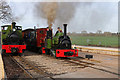 SK2406 : Statfold Barn Railway - Hunslet trio by Chris Allen