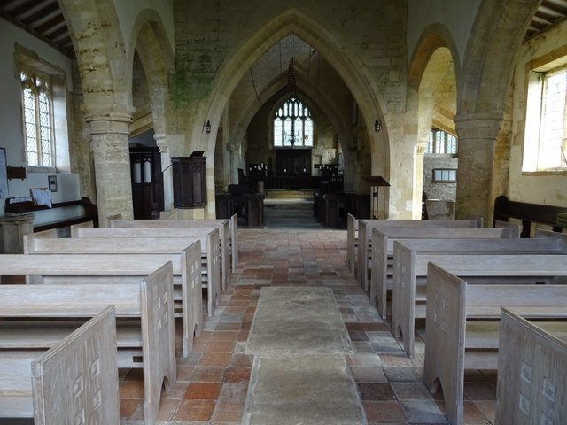 Interior of St Eadburgha's church