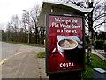 ST2787 : Costa Coffee advert, Park View, Bassaleg by Jaggery