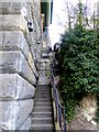 NZ3957 : Steps down from Wearmouth Bridge by Oliver Dixon