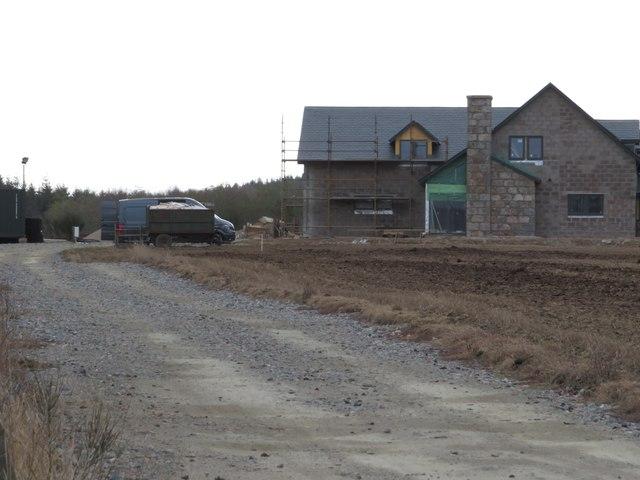 New build and access track near Birley