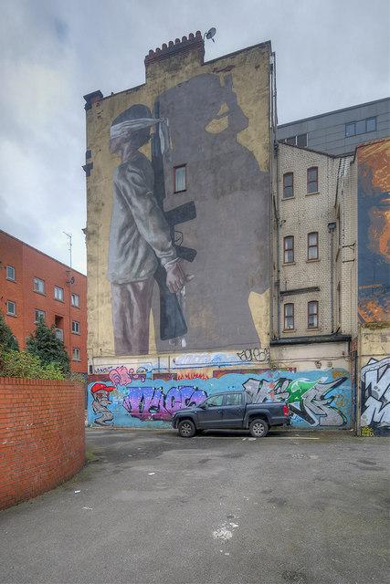War Children Mural on Manchester's Northern Quarter