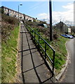 ST1190 : Shadows on a long steep path in Senghenydd by Jaggery