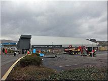 NG6423 : Co-op car park resurfacing by Richard Dorrell
