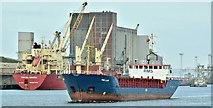 """J3576 : The """"RMS Laar"""", Belfast harbour (March 2019) by Albert Bridge"""