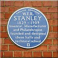 TQ3368 : Stanley's Blue Plaque by Glyn Baker