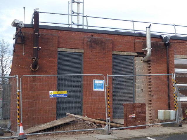 Worcestershire Royal Hospital - diesel generator exhausts