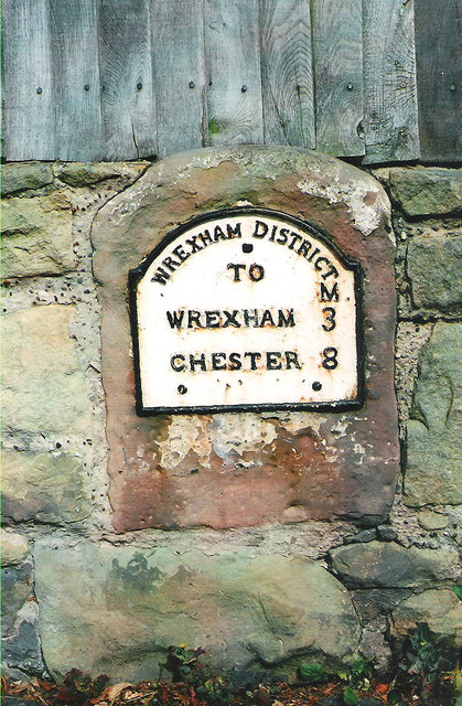Old Milestone by the B5445 in Gresford