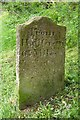SJ8763 : Old Milemarker by the Macclesfield Canal at Buglawton by Milestone Society