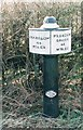 SJ9329 : Old Milemarker by the Trent & Mersey Canal, Lower Burston Bridge by Milestone Society