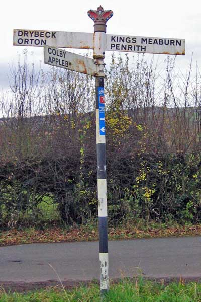 Old Direction Sign - Signpost, south of King's Meaburn