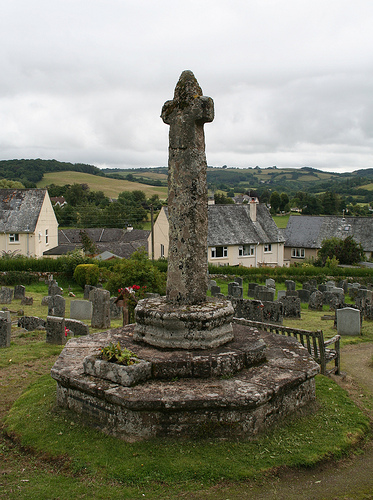 Old Central Cross - moved, in Chagford