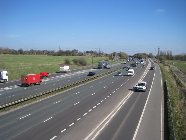 Westbound carriagway of the M62