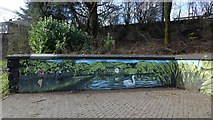 NS3980 : New mural beside the River Leven by Lairich Rig