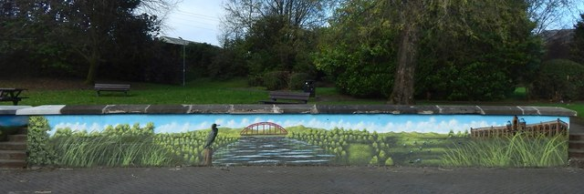 New mural beside the River Leven