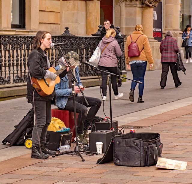 Busking in Glasgow - March 2019