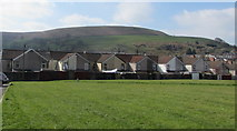 ST1188 : Hillside view from an Abertridwr bench by Jaggery