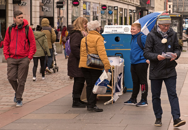 Pensioners for Independence - Argyle Street, Glasgow (1)