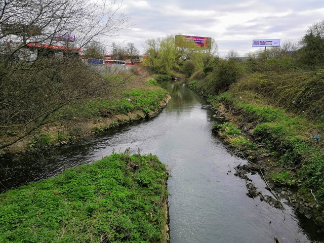 The confluence of the River Tame and Ford Brook