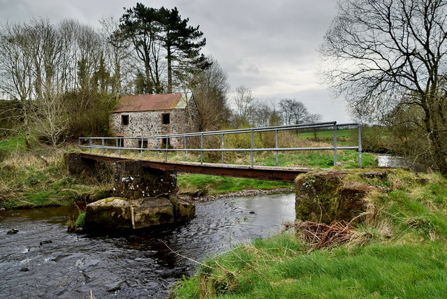 Crumbling supports to footbridge, Camowen River