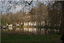 TQ2979 : View of buildings on Horse Guards Road reflected in St. James's Park Lake by Robert Lamb