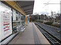 SJ8590 : East Didsbury tram station by Virginia Knight