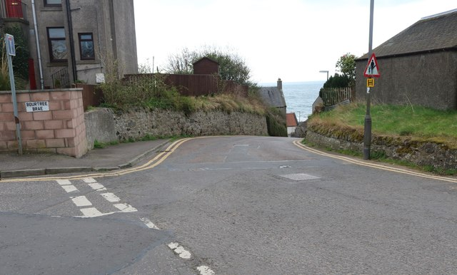 Road junction, Lower Largo