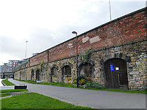 SE2933 : Old railway arches alongside Office Lock by Stephen Craven