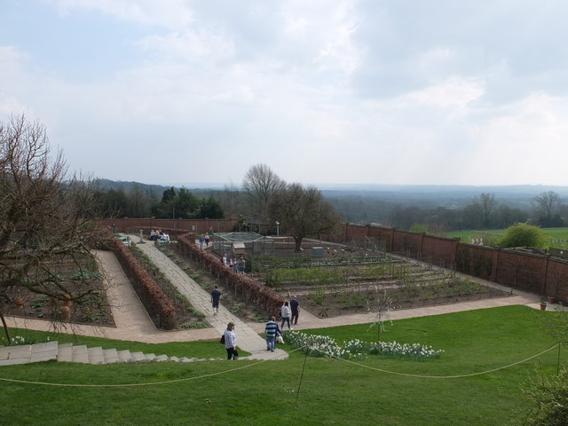 The kitchen garden at Chartwell