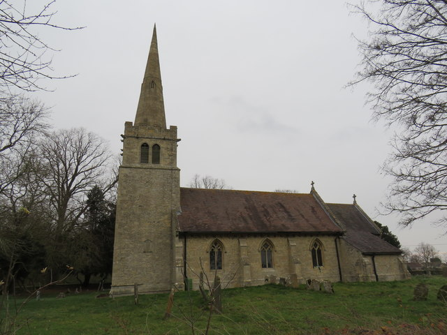 St Hybald's Church during winter from the south