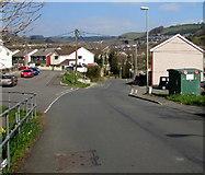 ST1289 : Aberfawr Road junctions, Abertridwr by Jaggery