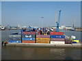 TA1428 : Containers on the quayside, King George Dock, Hull by Christine Johnstone