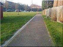 TQ2589 : Path by the North Circular Road, Finchley by David Howard