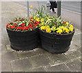 SO6302 : High Street flower tubs, Lydney by Jaggery