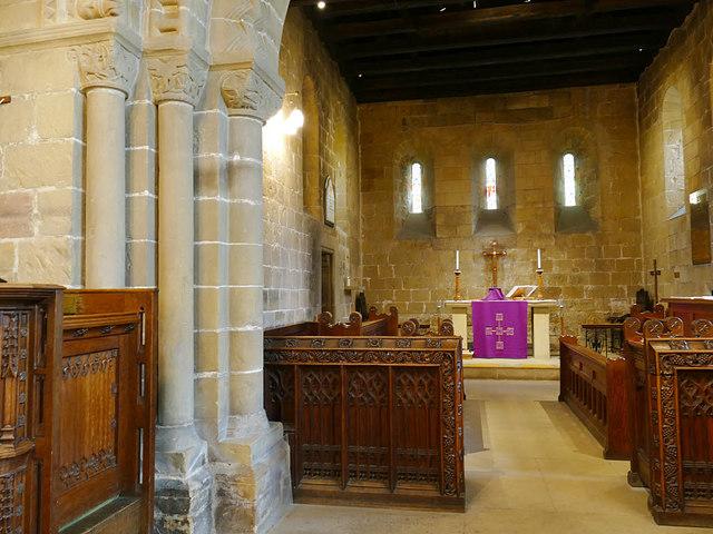 St John's church, Adel - chancel