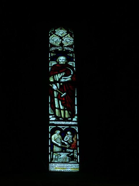 St John's church, Adel - Tubal-Cain window
