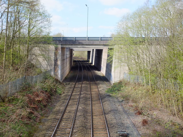 View from the Railway Bridge on Wardley Hall Road