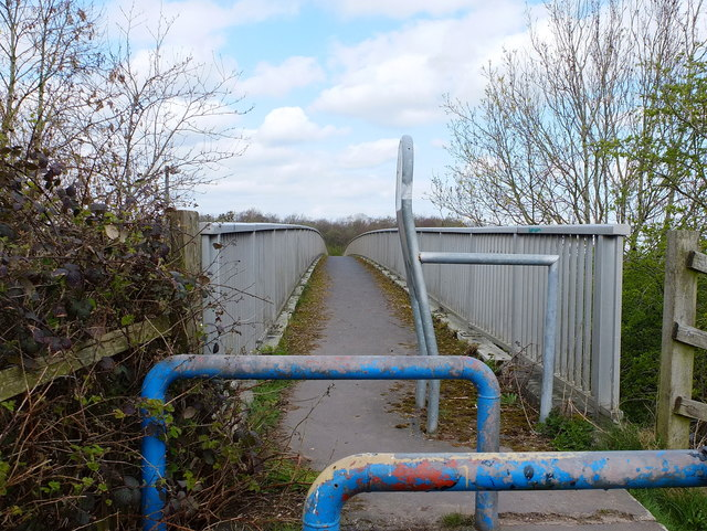 Footbridge over the M60 North of Wardley