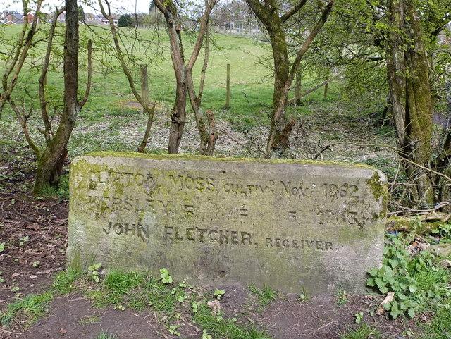 Boundary Stone at Clifton Moss C1862