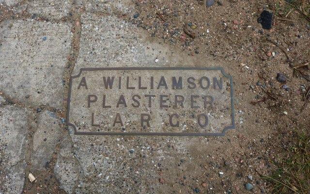 Memorial plaque, Lower Largo