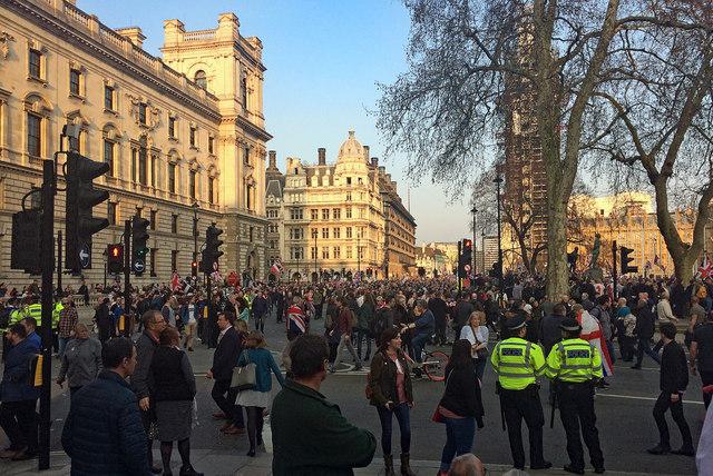 Brexit demo, Parliament Square (1)