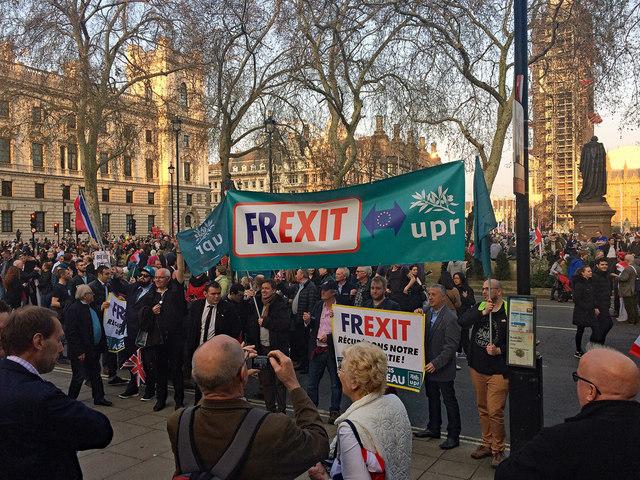 Brexit demo, Parliament Square (2)