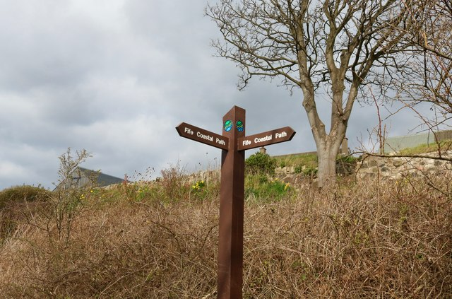 Fife Coastal Path sign, Lower Largo by Bill Kasman