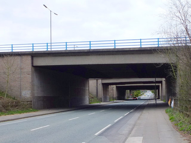 Manchester Road (A6) at the M60 Bridge