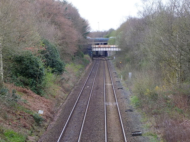 Looking West from the Railway Bridge on Holloway Drive